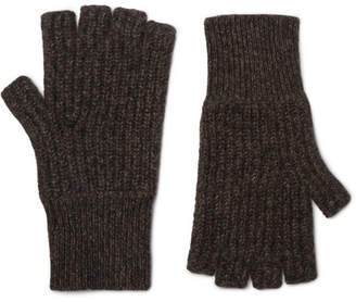 Rag & Bone Ace Fingerless Mélange Cashmere Gloves
