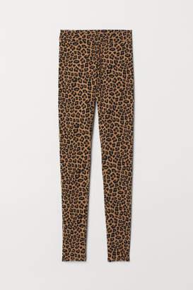H&M Patterned Leggings - Beige