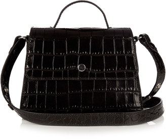 ELIZABETH AND JAMES Eloise mini crocodile-effect leather bag $310 thestylecure.com