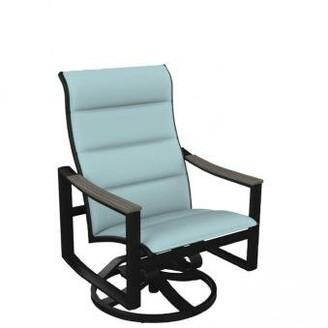 Tropitone Brazo Padded Sling Swivel Action Patio Chair Tropitone