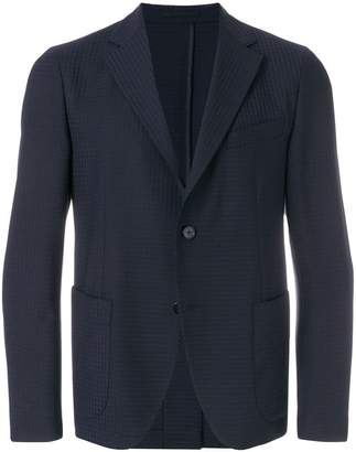 Versace pinstriped fitted blazer