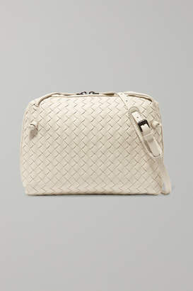 Bottega Veneta Nodini Small Intrecciato Leather Shoulder Bag - Off-white