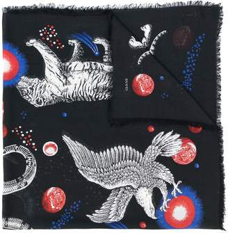 Gucci Space Animals print shawl