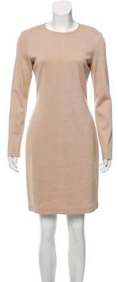 St. John Long Sleeve Midi Dress