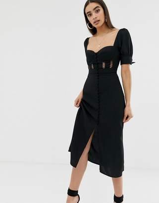 Fashion Union structured corset midi dress