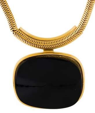 Lanvin Interchangeable Resin Pendant Necklace