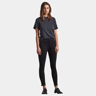 AG Jeans Farrah Ankle Skinny Jean in Black Storm