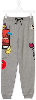 Burberry TEEN graphic print track pants