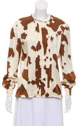 Valentino Printed Long Sleeve Top