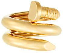 David Webb 18k Gold Polished Nail Ring, Size 6.5