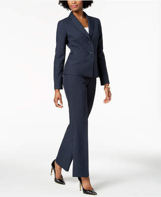 Le Suit Pinstriped Pantsuit, Regular & Petite