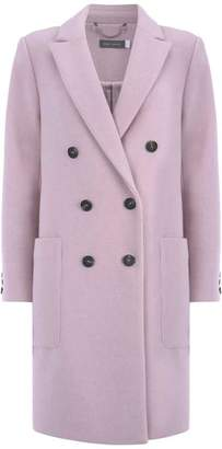 Mint Velvet Lilac Double Breasted Coat