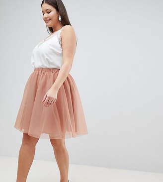 John Zack Plus Tulle Midi Skirt