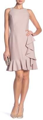 Nine West DRESS Sparkle Ruffle Hem Dress