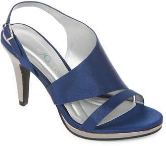 3d4c7a48326 Andrew Geller Womens Theola Pumps Open Toe Cone Heel