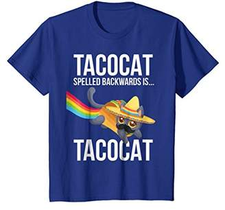Taco Cat Spelled Backwards Palindrome - Funny Nerdy T-Shirt