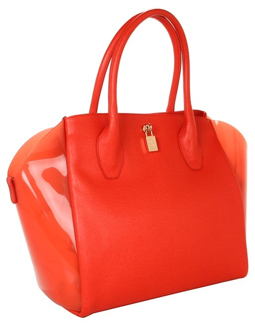 Furla Olimpia M Gel Shopper (Papaya) - Bags and Luggage