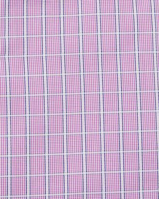 Bugatchi Men's Windowpane Cotton Dress Shirt