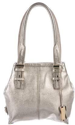 Jimmy Choo Metallic Leather Shoulder Bag
