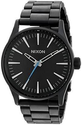 Nixon Men's A450712 Sentry 38 SS Analog Display Japanese Quartz Black Watch