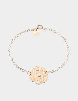 ginette_ny Mini Lace Monogram 18-karat rose gold bracelet