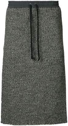 Undercover drawstring skirt