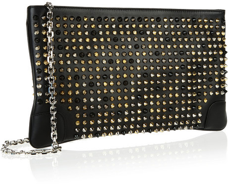 Christian Louboutin Loubiposh spiked leather clutch