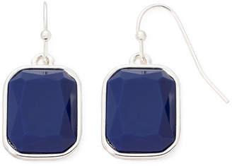 Liz Claiborne Blue Stone Silver-Tone Drop Earrings