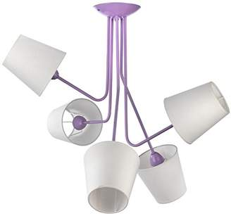 Camilla And Marc Onli 4780/PL5 Ceiling Light with Shades E14, 6 W, Purple, 70 x 75 cm