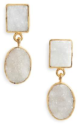 Panacea Double Drusy Drop Earrings