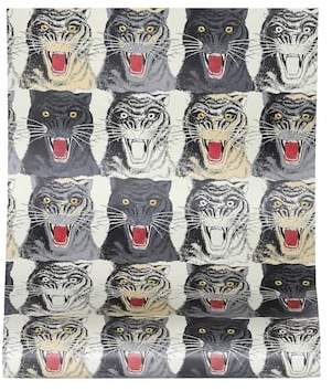 Gucci Tiger Face printed wallpaper