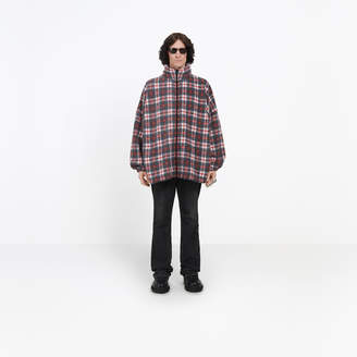 Balenciaga Fleece tartan zipped sweater