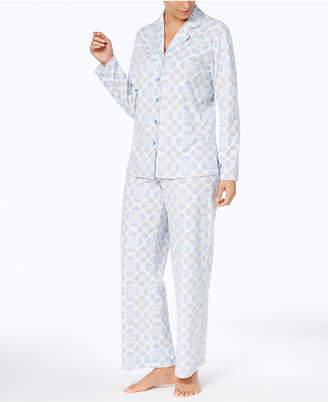 Charter Club Printed Fleece Pajama Set