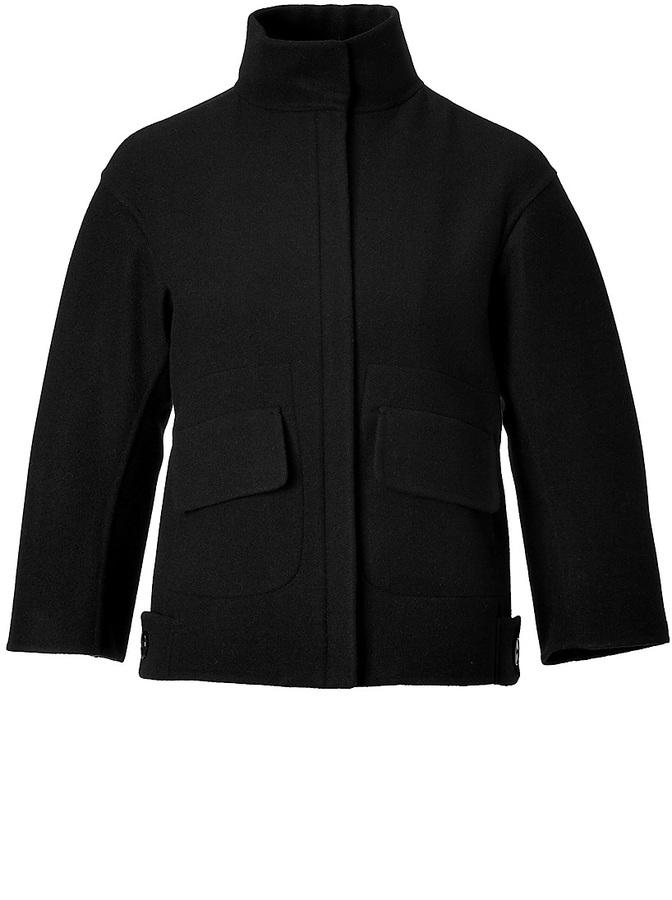 Jil Sander Wool Ponti Jacket in Black