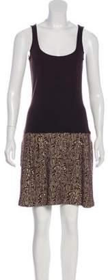 Diane von Furstenberg Shay Patterned Mini Dress tan Shay Patterned Mini Dress