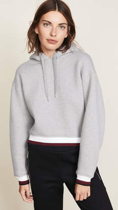 Alexander Wang Dense Cardigan with Striped Trim