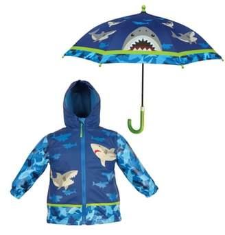 Stephen Joseph Shark Raincoat & Umbrella Set