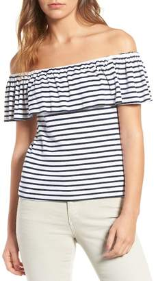 Splendid Venice Stripe Off the Shoulder Top
