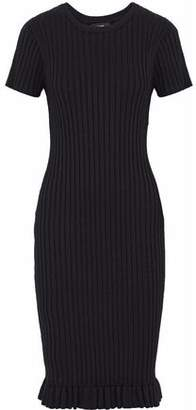 Line Judith Fluted Ribbed-Knit Dress