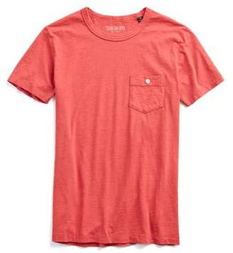 Todd Snyder Made in L.A. Pocket Garment Dyed T-Shirt in Red
