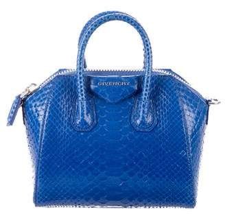 Givenchy Mini Antigona Python Satchel