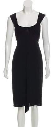 Paule Ka Sleeveless Knee-Length Dress