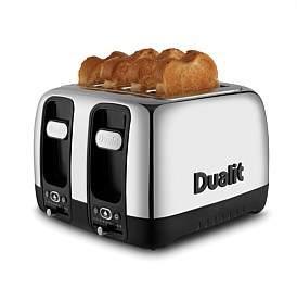 Dualit Domus 4 Slice Toaster Polished With Black Trim