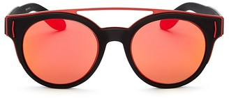 Givenchy Mixed Media Round Sunglasses, 50mm $395 thestylecure.com