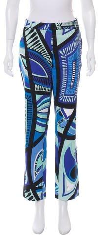 Emilio Pucci Abstract Print Straight-Leg Pants
