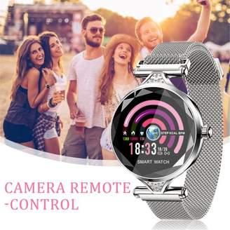 Bdo Fashion Women Smart Watch Calories Fitness Tracker Sports Bracelet Lady Gifts Sport Fitness Tracker, Heart Rate Monitor IP67 Waterproof Screen-Silver&Gold