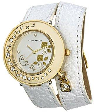 Laura Ashley Women's LA31008WT Analog Display Japanese Quartz White Watch $37.40 thestylecure.com