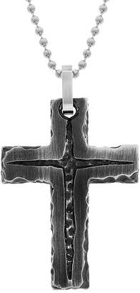 Fine Jewelry Mens Antique Finish Stainless Steel Cross Pendant Necklace 2vQjOWP