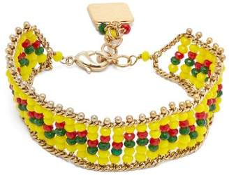 Rosantica By Michela Panero - Striped Beaded Bracelet - Womens - Yellow