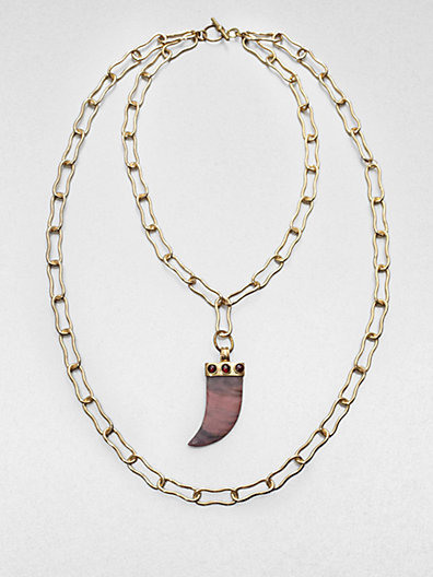 Kelly Wearstler Double-Chain Horn Necklace